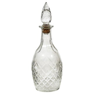 1960s Diamond Patterned Glass Decanter