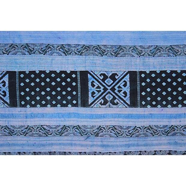 Silk Hill Tribe Indigo Textile Pillow - Image 4 of 5