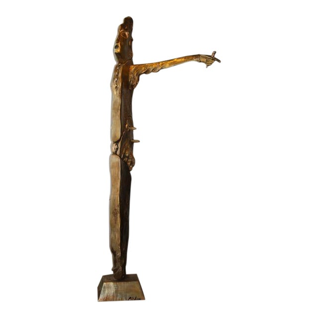 Image of Monumental Seven and Foot Tall John Richen Bronze of a Lady