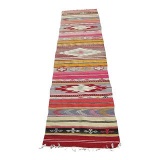 Vintage Turkish Kilim Rug -1′11″ × 8′12″