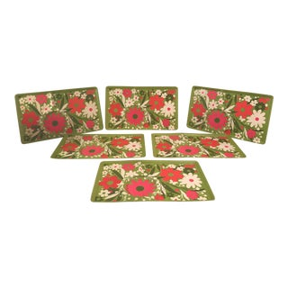 Flower Power Luncheon Trays - Set of 6