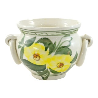 Mexican Yellow Floral Urn