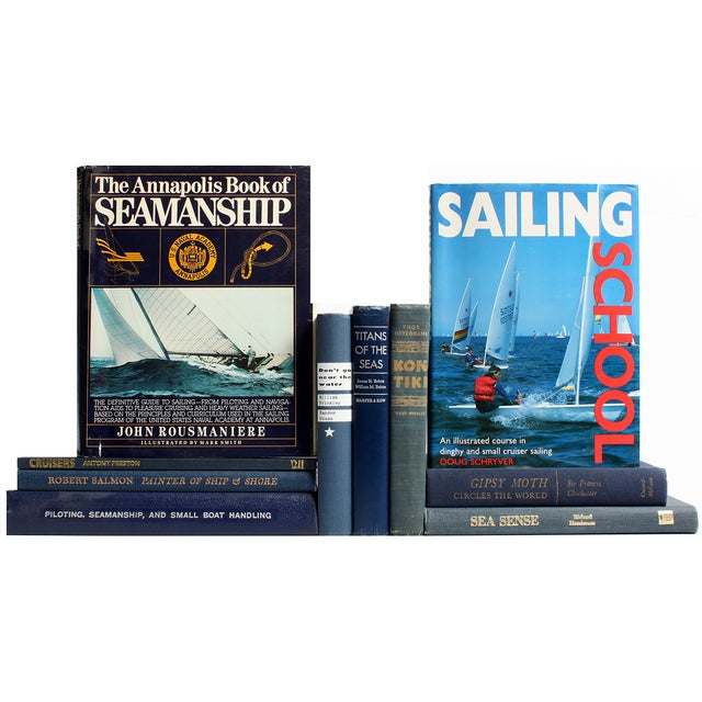 Image of Vintage Nautical Book Selections - S/10