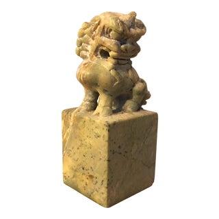 Carved Soapstone Foo Dog