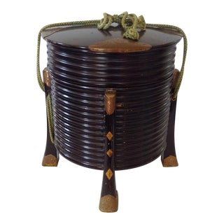 Japanese Black Lacquer Hat Box