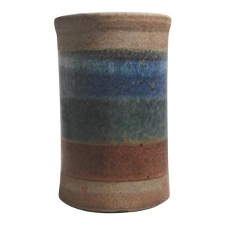 Striped Salt Glaze Stoneware Vase