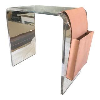 Acrylic & Leather Kanguru Side Table
