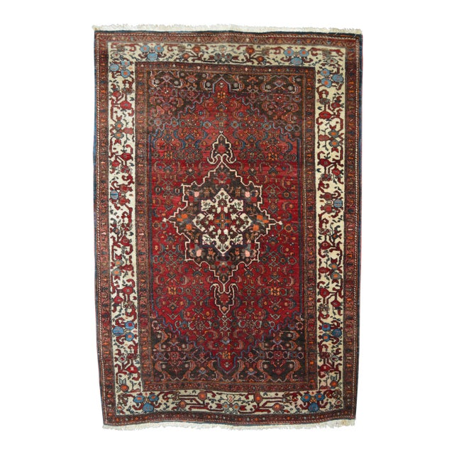 "Vintage Persian Rug - 3'5"" x 5'1"" - Image 1 of 3"