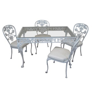 Vintage Cast Aluminum Patio Set - Set of 5
