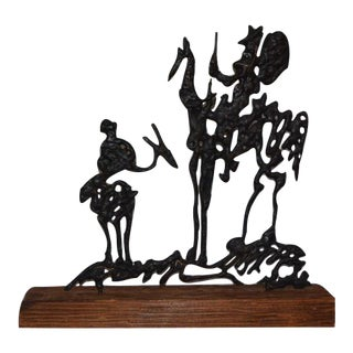Pablo Picaso's Don Quixote Metal Sculpture