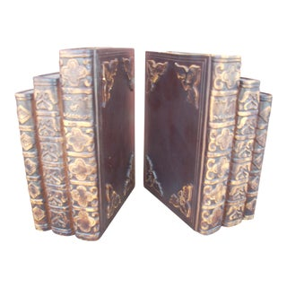 """Old Books"" Bookends - A Pair"