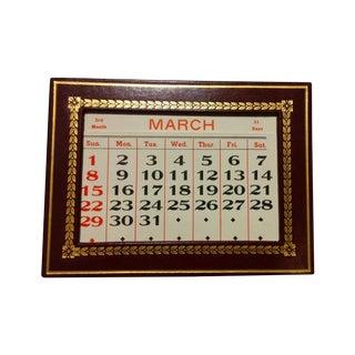 Burgundy Leather Perpetual Tiffany Calendar