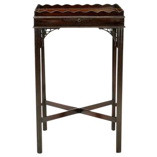 1940s Quigley Scalloped Gallery Mahogany Side Table