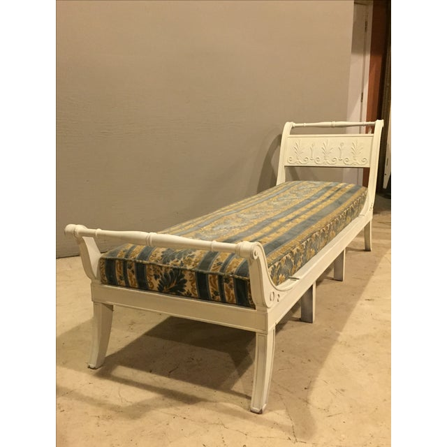 Antique 1920s White Directoire Style Chaise Lounge - Image 3 of 11