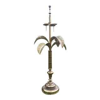Mid-Century Brass Palm Lamp with Removable Leaves