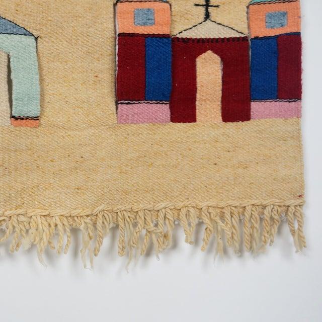 Vintage Fiber Art Southwestern Woven Hanging - Image 4 of 6