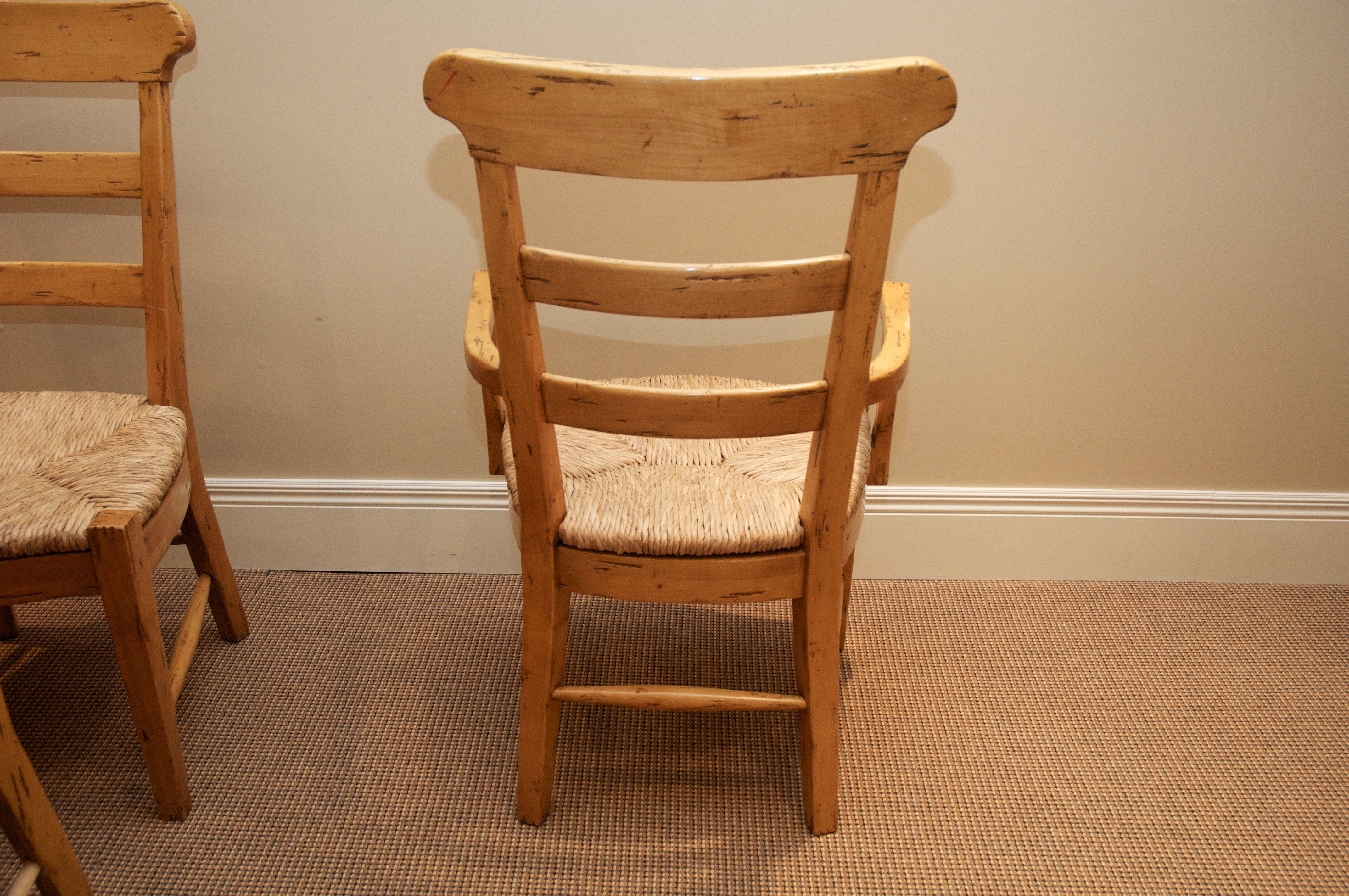 Fremarc Ladder Back Rush Seat Chairs   Set Of 6   Image 5 Of 10