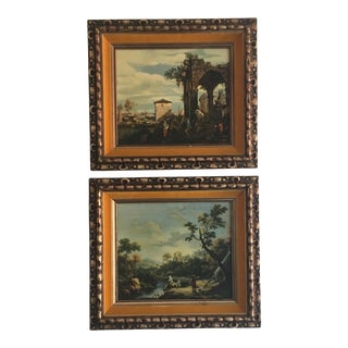 Framed Roman Landscape Prints - A Pair
