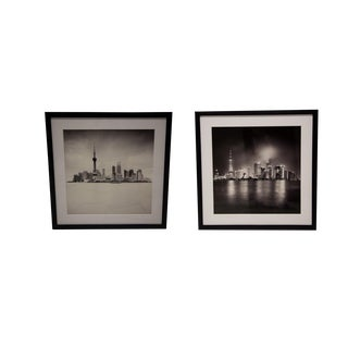 "New York Times Archives Framed Fine Art Photographs, ""Shanghai"" - A Pair"