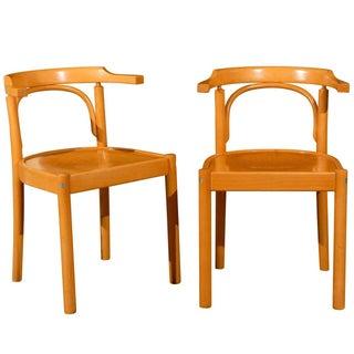 Midcentury Beechwood Armchairs, Hans Wegner - Pair
