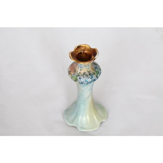Image of Victorian Porcelain Forget-Me-Not Candle Holder