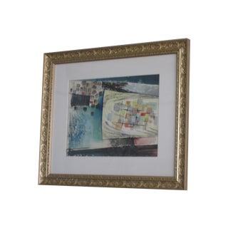 D.S. Lefkowitz Mid-Century Abstract Bridge Painting