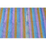 """Image of Vintage Mohair Wool Stripe Rug - 7'8"""" x 4'8"""""""