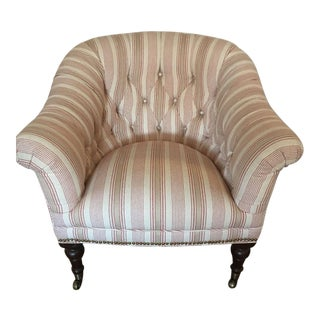 Custom Upholstered English Library Style Chair