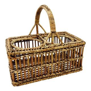 Vintage Woven Basket Holder