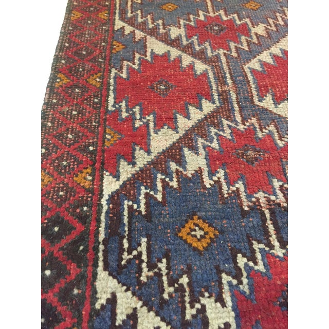 Vintage Handknotted Persian Runner - 1′9″ × 4′8″ - Image 6 of 6