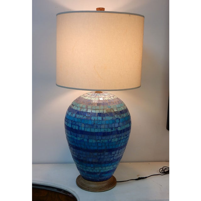 Image of Mid Century Mosaic Table Lamp by Fisher