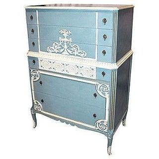 1930s Painted Mahogany Tall Dresser