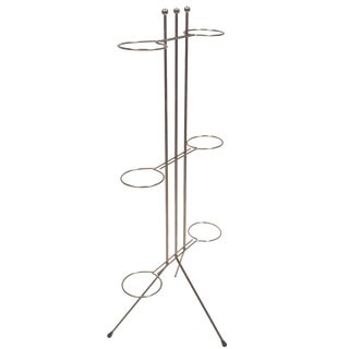1950s Atomic Brass Plant Stand