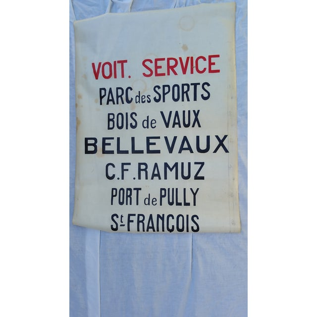 1940's French Bus Destination Blind - Image 2 of 3