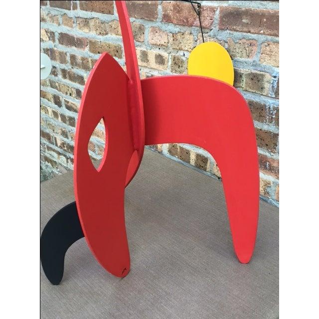 Vintage Calder Style Stabile Mobile Sculpture - Image 6 of 11