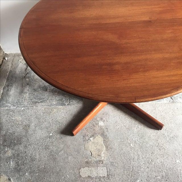 Mobler Teak Pedestal Dining Table - Image 7 of 8