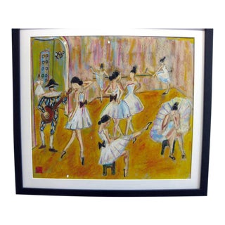 Ballet Studio With Harlequin Painting
