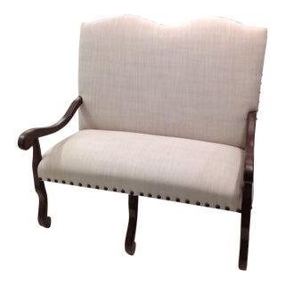 Legacy Linen Upholstered Settee