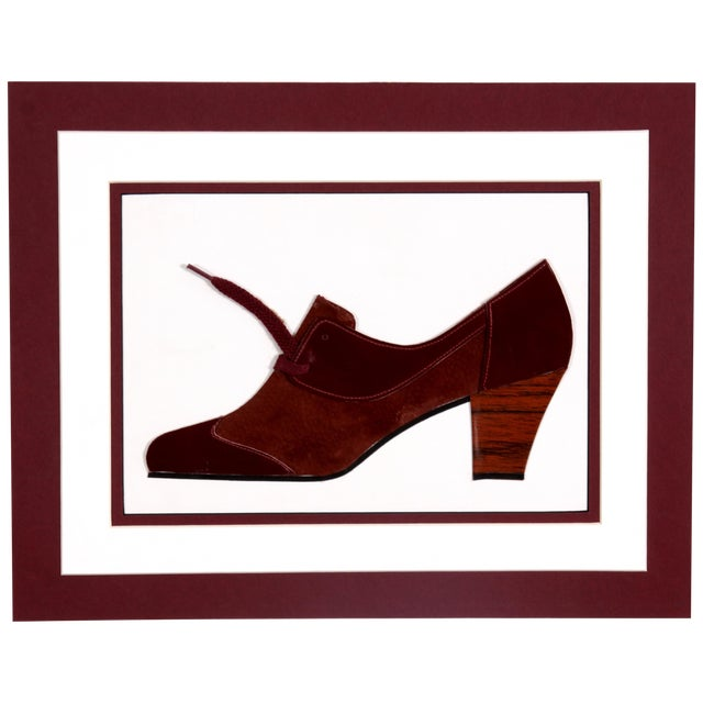 Image of Brown Suede & Leather Shoe Collage