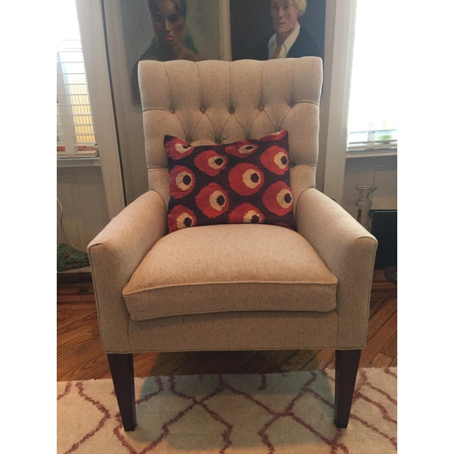 Custom Tufted Wingback Chair - a Pair - Image 6 of 11