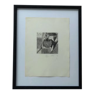 Atila Biro - Abstract Drypoint Engraving