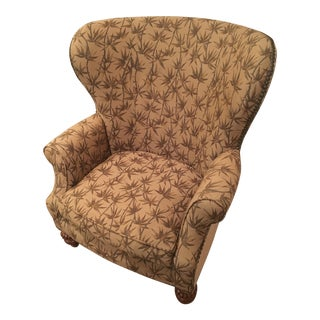 Custom Made Thomasville Wingback Arm Chair