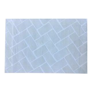 Grey & White Tile Backsplash Canvas Rug -- 2' X 3'