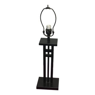 Arts & Crafts Style Black Metal Table Lamp