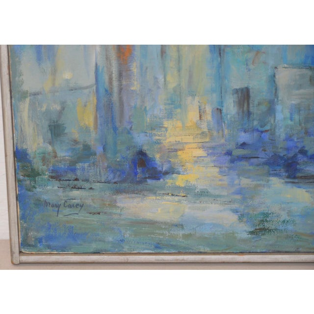 Mid Century Modern Abstract Cityscape by Mary Carey c.1950s - Image 5 of 7