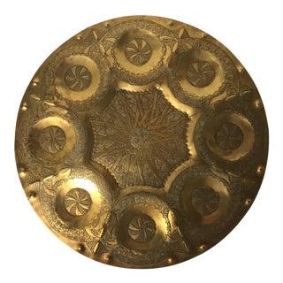 Boho Vintage Moroccan Brass Tray