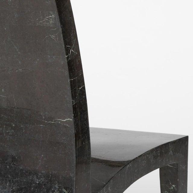 Maitland Smith Tessellated Postmodern High-Back Chair - Image 3 of 6