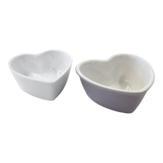 Chantal & Cordon Bleu Heart Shaped Ramekin Dishes - A Pair