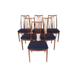 Kofod Larsen Highback Rosewood Dining Chairs - Set of 6