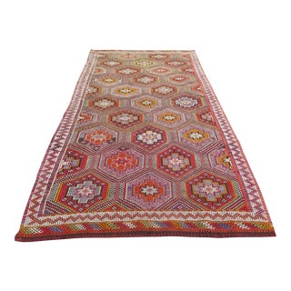 Turkish Antalya Kilim Rug - 5′ × 9′6″